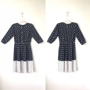 Vintage Breli Originals | B/W Pleated Dress